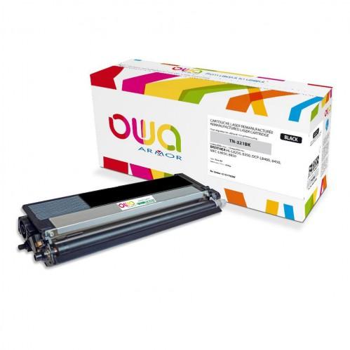 Cartouche Laser OWA remanufacturée compatible BROTHER TN-321BK - Noir - 2500p