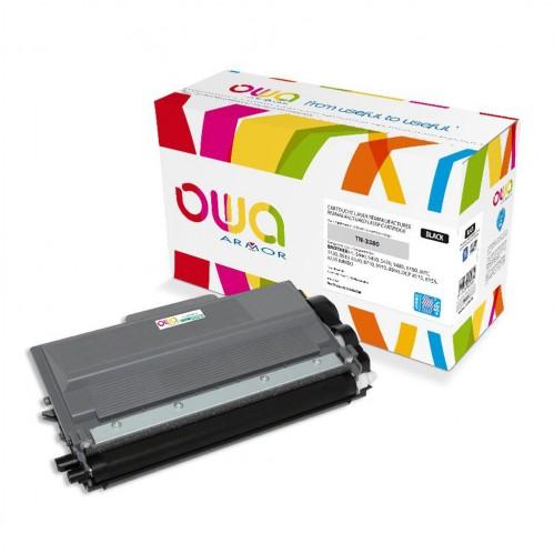 Cartouche Laser OWA remanufacturée compatible BROTHER TN-3380 - Noir - 12000p