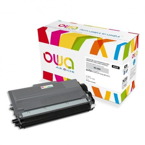 Cartouche Laser OWA remanufacturée compatible BROTHER TN-3390 - Noir - 12000p