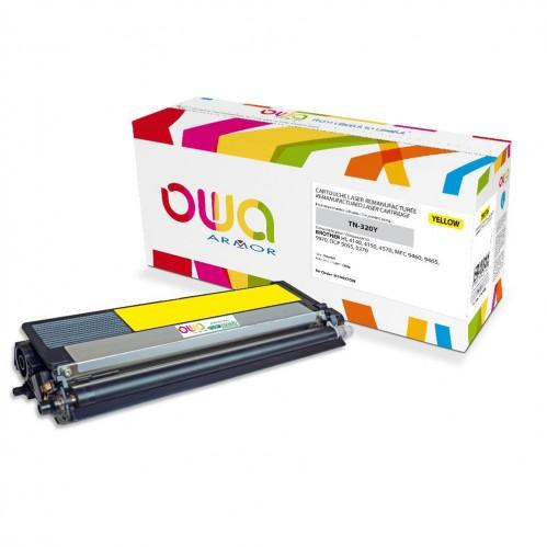 Cartouche Laser OWA remanufacturée compatible BROTHER TN-320Y - Jaune - 1500p