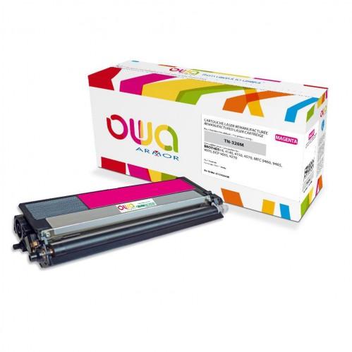 Cartouche Laser OWA remanufacturée compatible BROTHER TN-320M - Magenta - 1500p