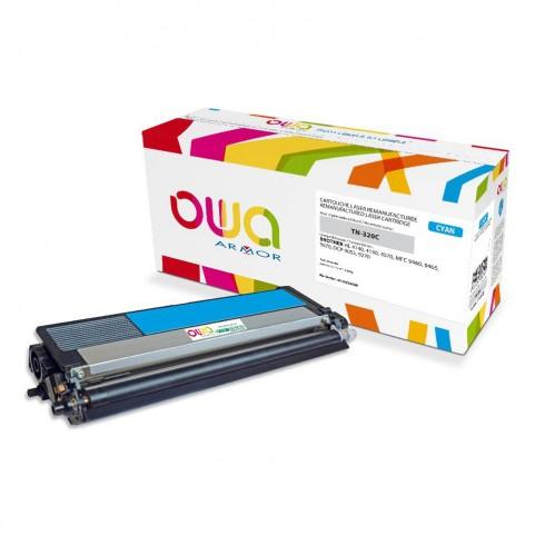 Cartouche Laser OWA remanufacturée compatible BROTHER TN-320C - Cyan - 1500p