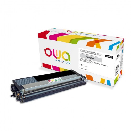 Cartouche Laser OWA remanufacturée compatible BROTHER TN-320BK - Noir - 2500p