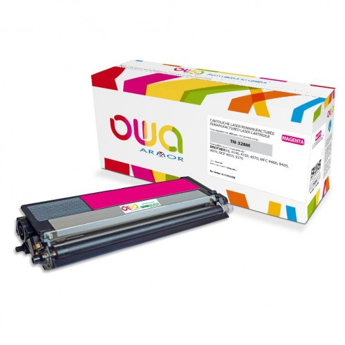 Cartouche Laser OWA remanufacturée compatible BROTHER TN-328M - Magenta - 6000p