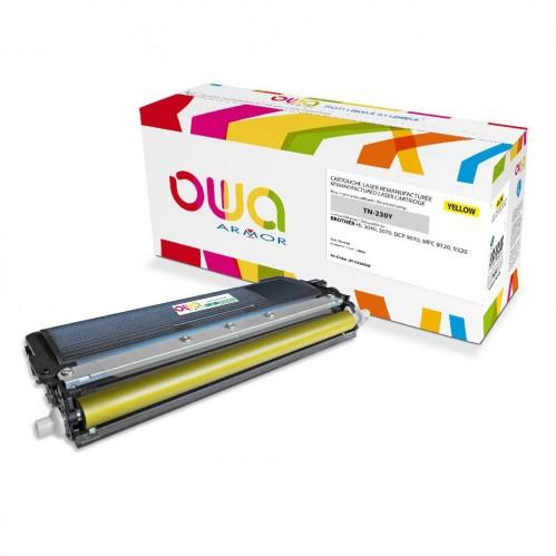 Cartouche Laser OWA remanufacturée compatible BROTHER TN-230Y - Jaune - 1400p