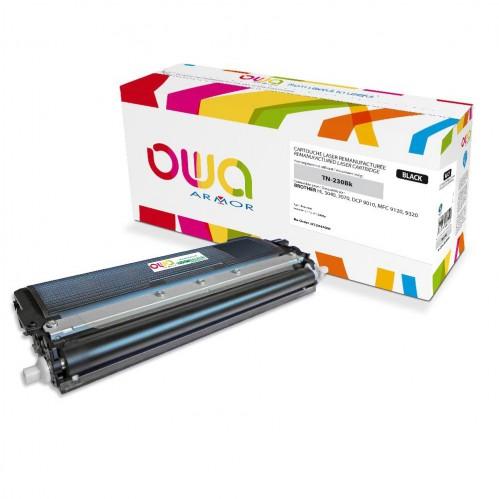Cartouche Laser OWA remanufacturée compatible BROTHER TN-230BK - Noir - 2200p