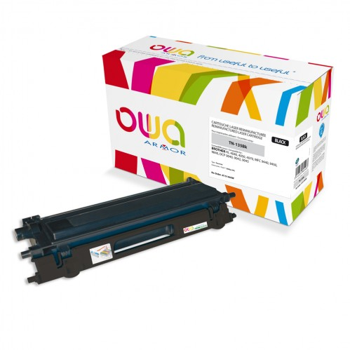 Cartouche Laser OWA remanufacturée compatible BROTHER TN-135BK - Noir - 5000p
