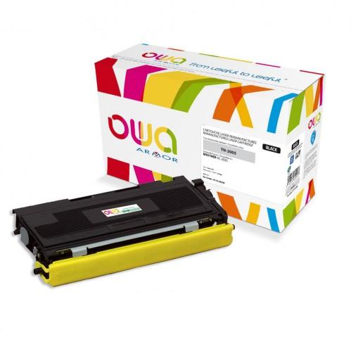 Cartouche Laser OWA remanufacturée compatible BROTHER TN-2005 - Noir - 1500p