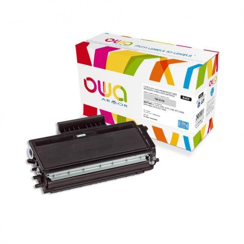 Cartouche Laser OWA remanufacturée compatible BROTHER TN-3170 - Noir - 10600p