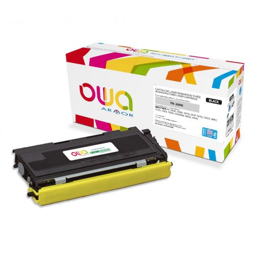 Cartouche Laser OWA remanufacturée compatible BROTHER TN-2000 - Noir - 4800p