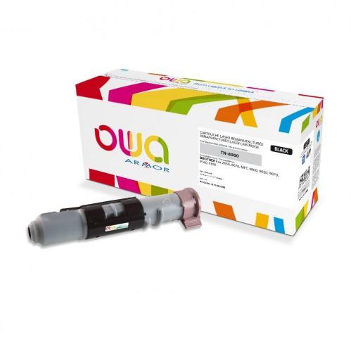 Cartouche Laser OWA remanufacturée compatible BROTHER TN-8000 - Noir - 2200p