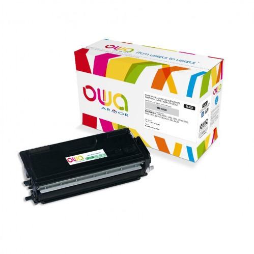 Cartouche Laser OWA remanufacturée compatible BROTHER TN-7600 - Noir - 6500p