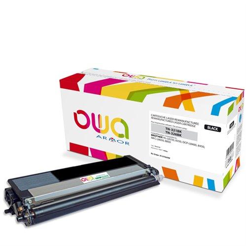 Cartouche Laser OWA remanufacturée pour BROTHER TN-326BK - Noir - 4000p
