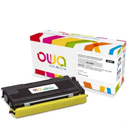 Cartouche Laser OWA remanufacturée pour BROTHER TN-2000 - Noir - 2500p