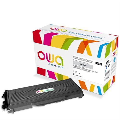 Cartouche Laser OWA remanufacturée pour BROTHER TN-2110 - Noir - 1500p