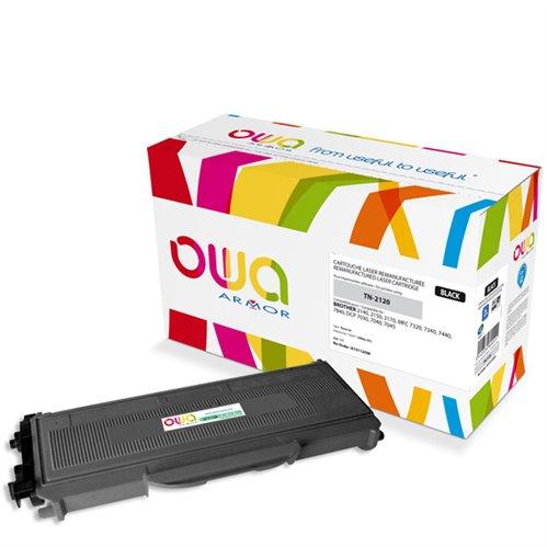 Cartouche Laser OWA remanufacturée pour BROTHER TN-2120 - Noir - 2600p HC