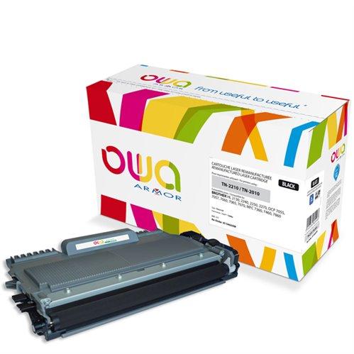 Cartouche Laser OWA remanufacturée pour BROTHER TN-2210 - Noir - 1200p