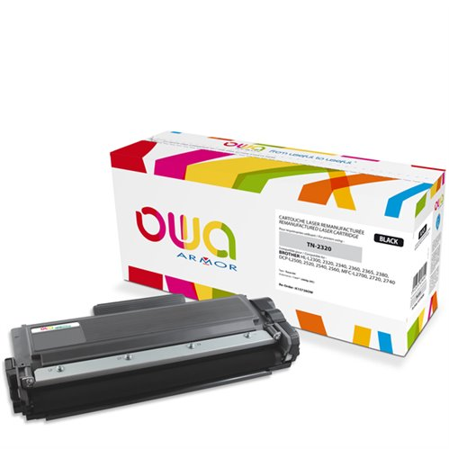 Cartouche Laser OWA remanufacturée pour BROTHER TN-2320 - Noir - 2600p HC