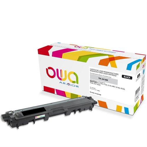 Cartouche Laser OWA remanufacturée pour BROTHER TN-241BK - Noir - 2500p