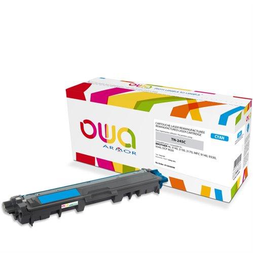 Cartouche Laser OWA remanufacturée pour BROTHER TN-245C - Cyan - 2200p HC