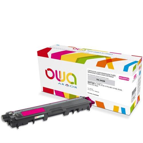Cartouche Laser OWA remanufacturée pour BROTHER TN-245M - Magenta - 2200p HC