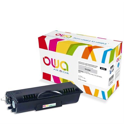 Cartouche Laser OWA remanufacturée pour BROTHER TN-3030 - Noir - 3500p