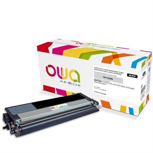 Cartouche Laser OWA remanufacturée pour BROTHER TN-325Bk - Noir - 4000p HC