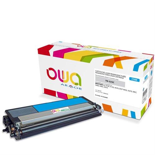 Cartouche Laser OWA remanufacturée pour BROTHER TN-325C - Cyan - 3500p HC