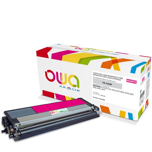 Cartouche Laser OWA remanufacturée pour BROTHER TN-325M - Magenta - 3500p HC