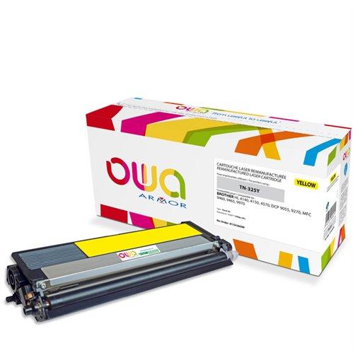Cartouche Laser OWA remanufacturée pour BROTHER TN-325Y - Jaune - 3500p HC