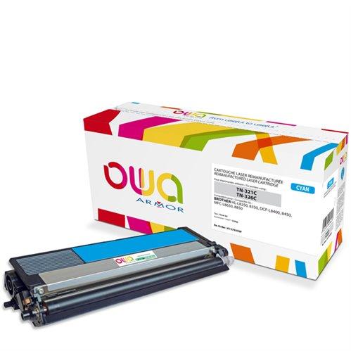 Cartouche Laser OWA remanufacturée pour BROTHER TN-326C - Cyan - 3500p