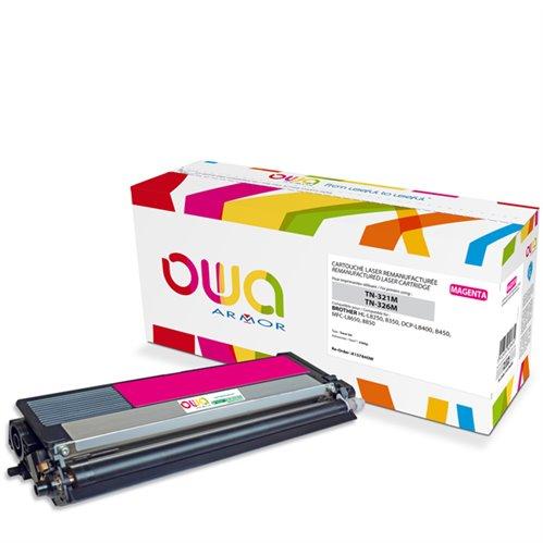 Cartouche Laser OWA remanufacturée pour BROTHER TN-326M - Magenta - 3500p