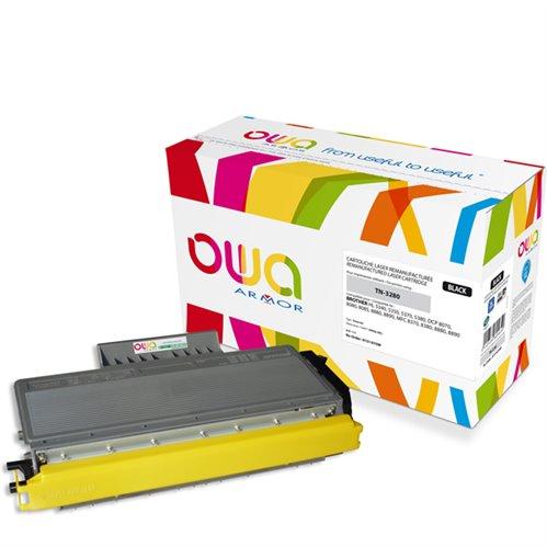 Cartouche Laser OWA remanufacturée pour BROTHER TN-3280 - Noir - 8000p HC