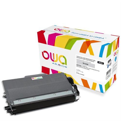 Cartouche Laser OWA remanufacturée pour BROTHER TN-3330 - Noir - 3000p