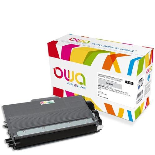 Cartouche Laser OWA remanufacturée pour BROTHER TN-3380 - Noir - 8000p