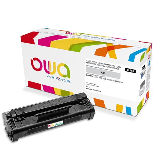 Cartouche Laser OWA remanufacturée pour CANON 1557A020 - Noir - 2700p