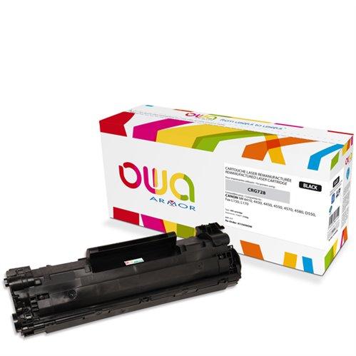 Cartouche Laser OWA remanufacturée pour CANON 3500B002 - Noir - 2100p