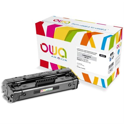 Cartouche Laser OWA remanufacturée pour HP C4092A - Noir - 2500p