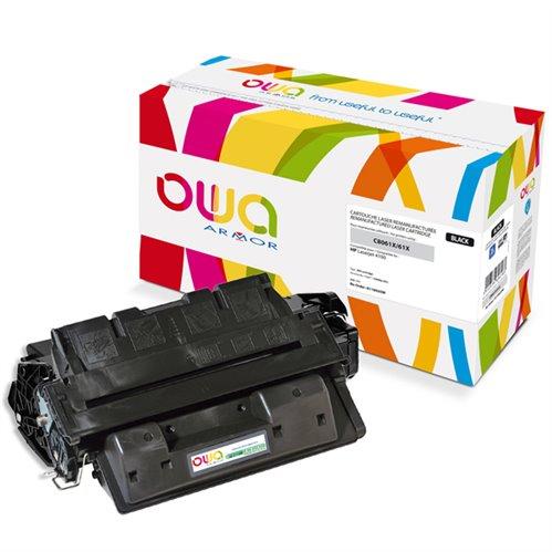 Cartouche Laser OWA remanufacturée pour HP C8061X - Noir - 10000p HC