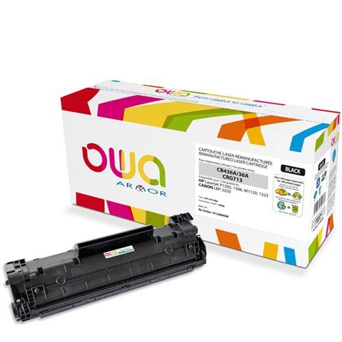 Cartouche Laser OWA remanufacturée pour HP CB436A - Noir - 2000p