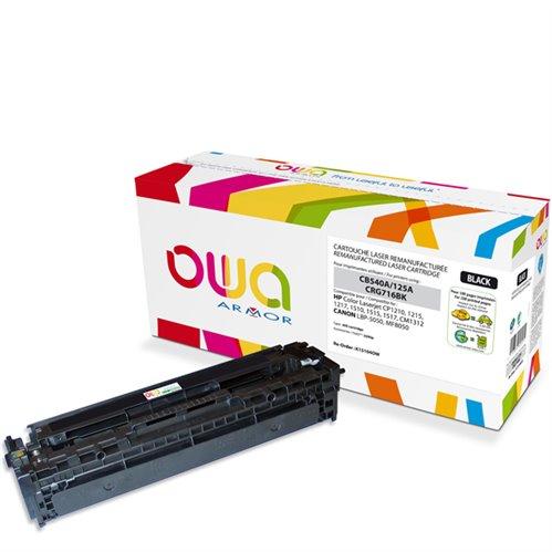 Cartouche Laser OWA remanufacturée pour HP CB540A - Noir - 2200p