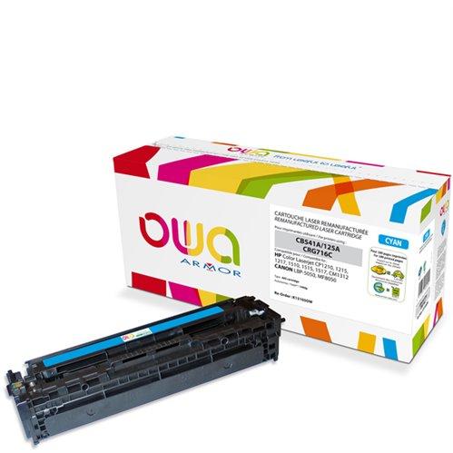 Cartouche Laser OWA remanufacturée pour HP CB541A - Cyan - 1400p