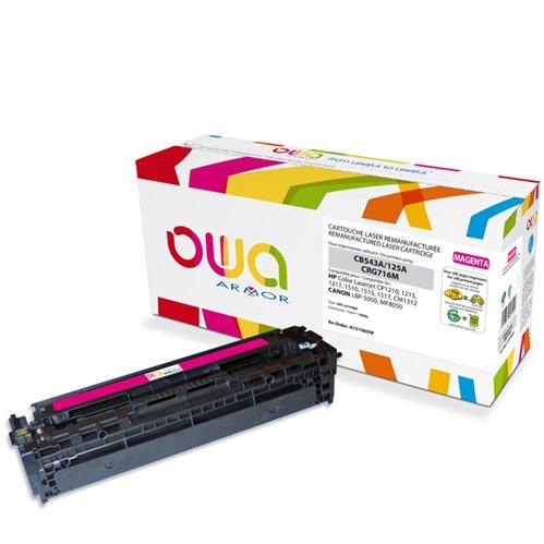 Cartouche Laser OWA remanufacturée pour HP CB543A - Magenta - 1400p