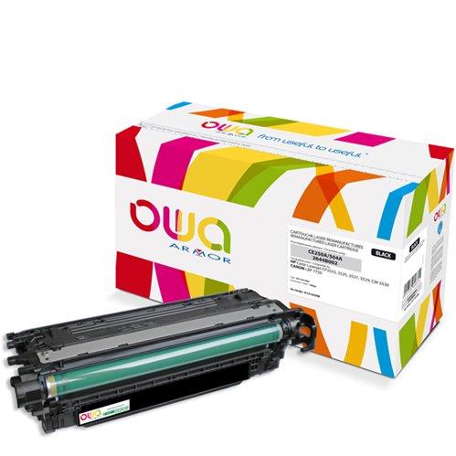 Cartouche Laser OWA remanufacturée pour HP CE250A - Noir - 5000p