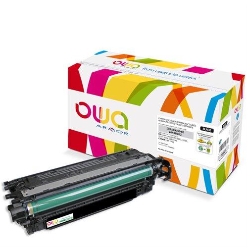 Cartouche Laser OWA remanufacturée pour HP CE250X - Noir - 10500p HC
