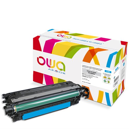 Cartouche Laser OWA remanufacturée pour HP CE251A - Cyan - 7000p