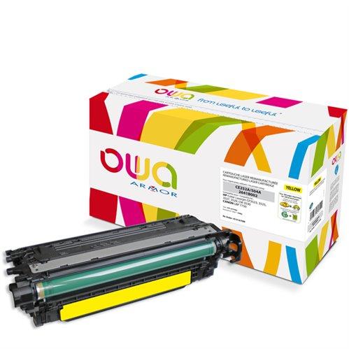 Cartouche Laser OWA remanufacturée pour HP CE252A - Jaune - 7000p