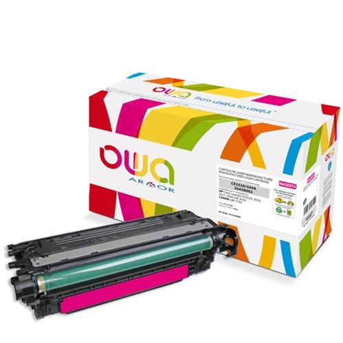 Cartouche Laser OWA remanufacturée pour HP CE253A - Magenta - 7000p