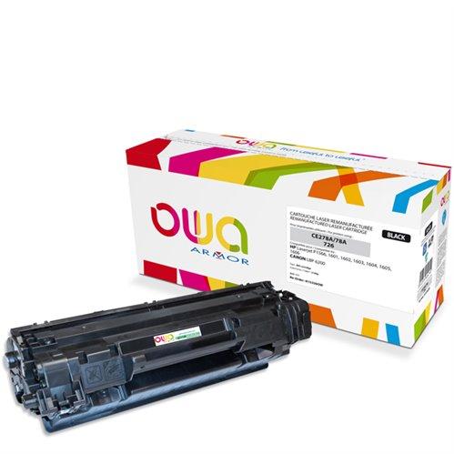 Cartouche Laser OWA remanufacturée pour HP CE278A - Noir - 2100p