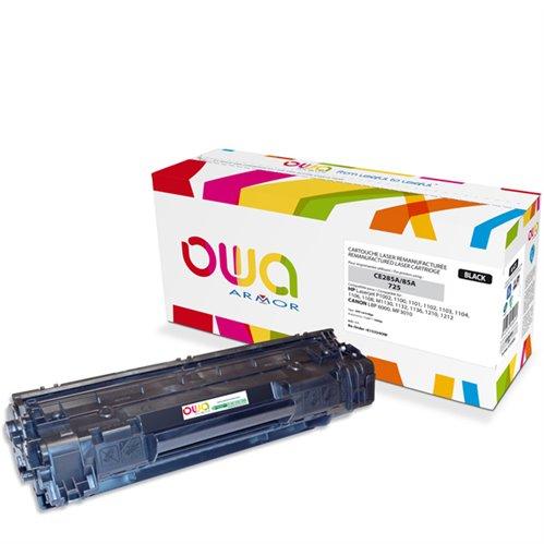 Cartouche Laser OWA remanufacturée pour HP CE285A - Noir - 1600p